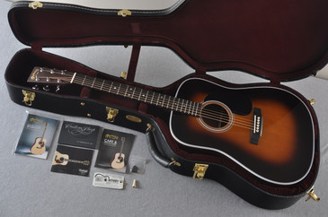 "2017 Martin Custom Shop D-28 Adirondack 1 3/4"" Nut 1935 Sunburst Guitar #2074088 - Case"