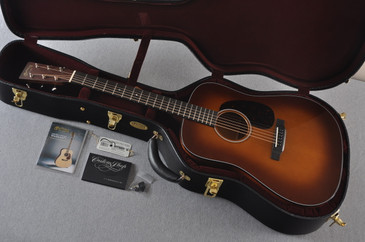 2017 Martin Custom Shop D-18 Adirondack Spruce Ambertone Acoustic Guitar #2074090 - Case