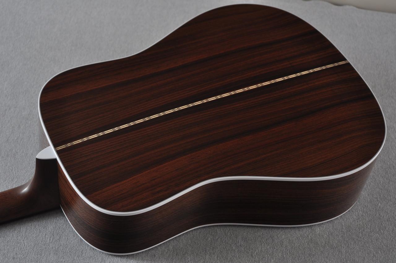 2017 Martin D-28 Standard 1935 Sunburst Dreadnought Acoustic Guitar #2079655 - Back Angle