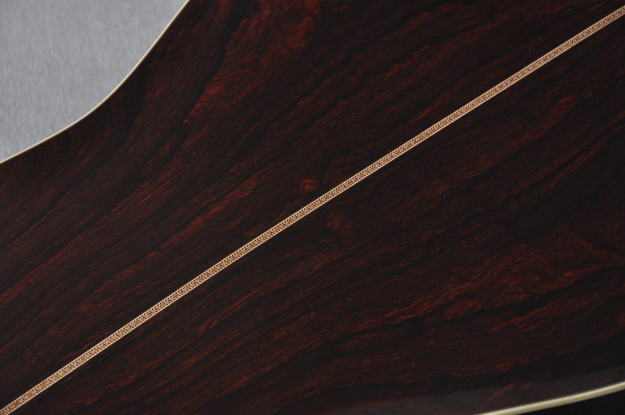 2017 Martin Custom Shop D-41 Adirondack Cocobolo Rosewood #2097536 - Back Purfling