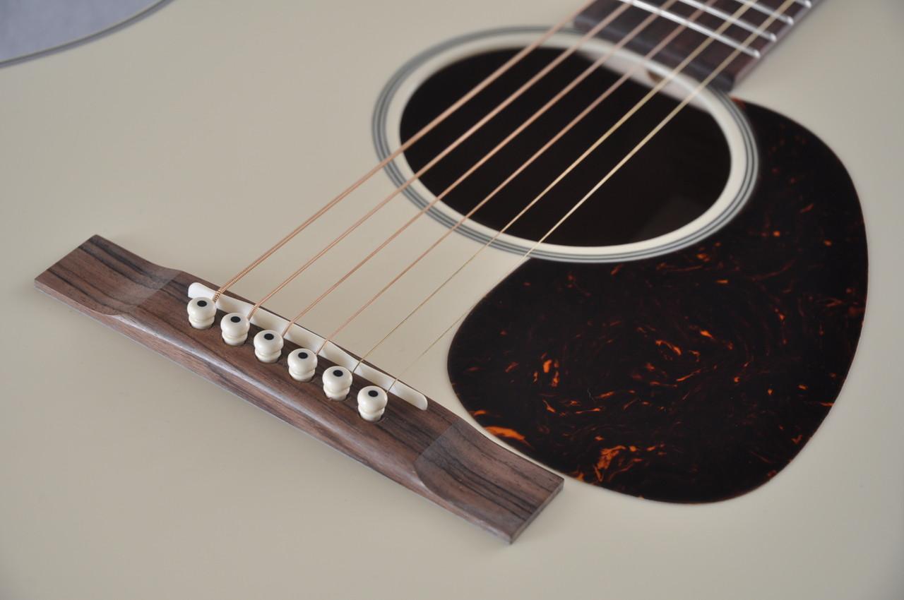 Martin Custom Shop D-18 Slope Adirondack Short Scale Antique White Guitar #2027455 - Bridge