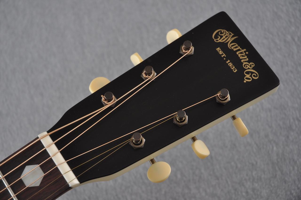Martin Custom Shop D-18 Slope Adirondack Short Scale Antique White Guitar #2027455 - Headstock