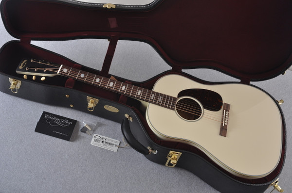 Martin Custom Shop D-18 Slope Adirondack Short Scale Antique White Guitar #2027455 - Case