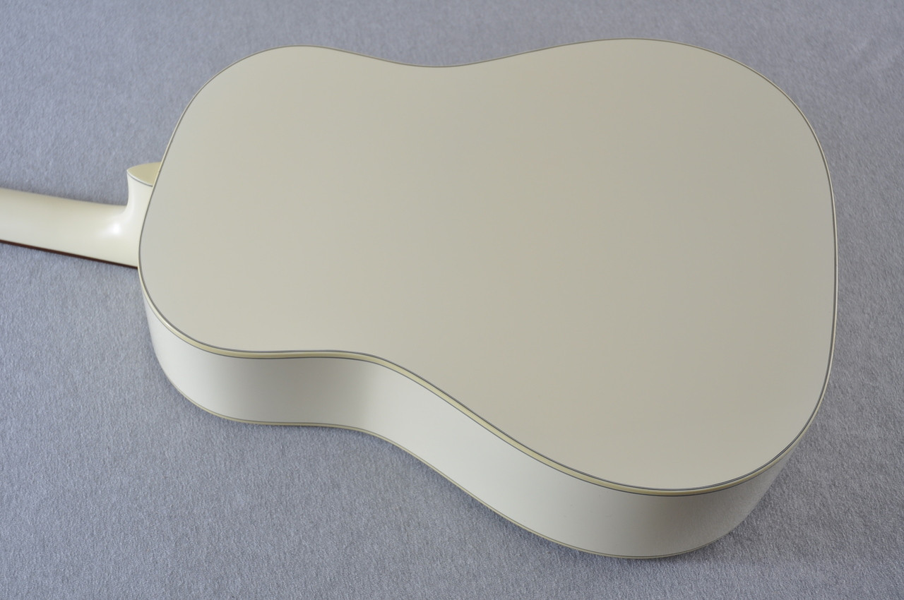 Martin Custom Shop D-18 Slope Adirondack Short Scale Antique White Guitar #2027455 - Back Angle