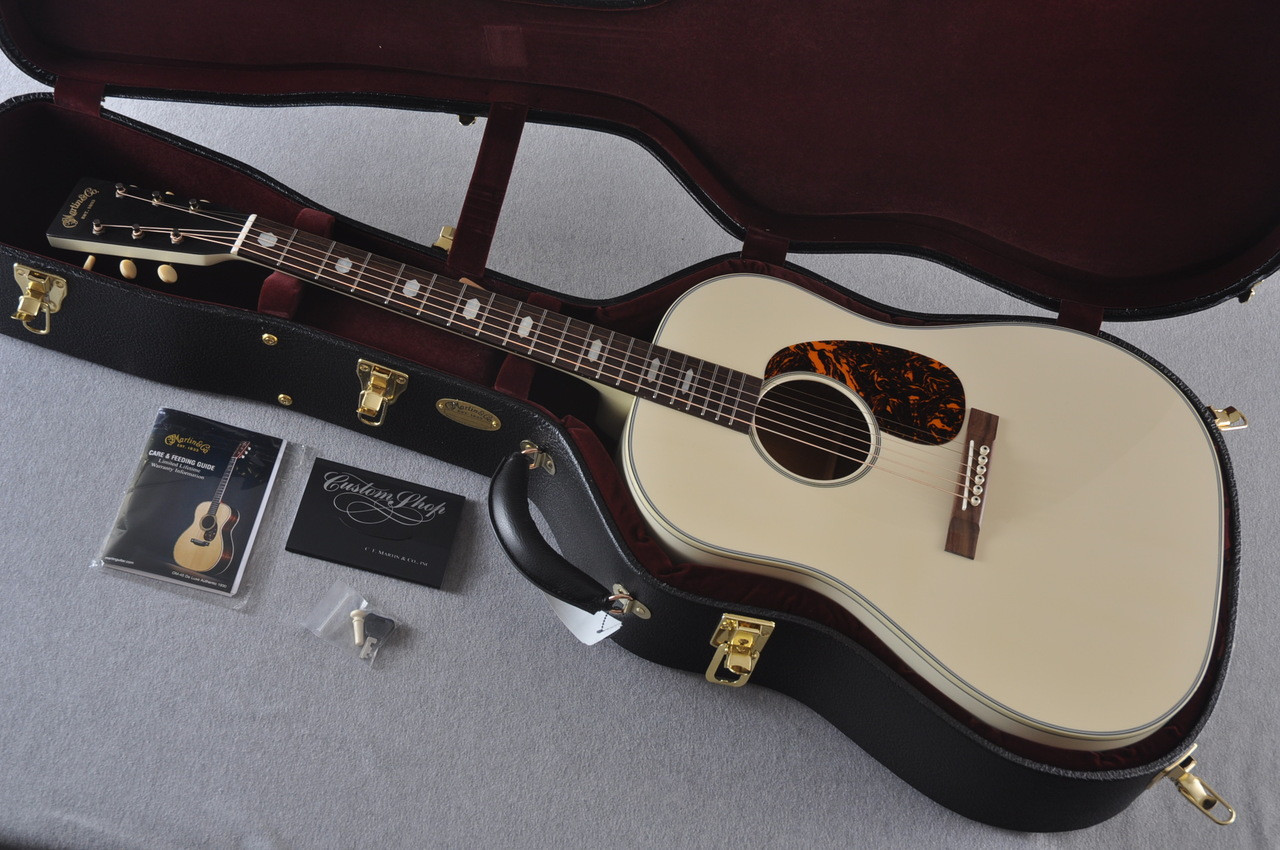 Martin Custom Shop D-18 Slope Adirondack Short Scale Antique White Guitar #2027453 - Case