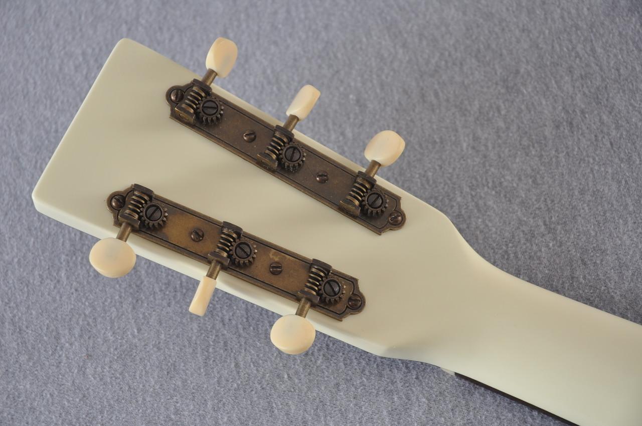 Martin Custom Shop D-18 Slope Adirondack Short Scale Antique White Guitar #2027453 - Back Headstock