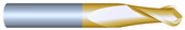 "#21874BTIN----2 Flute 3/16""  Dia. x 1"" LOC x  3"" OAL Ball"