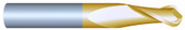 "#22502BTIN----2 Flute 1/4""  Dia. x 3/4"" LOC x  2 1/2"" OAL Ball"