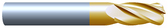"#4125R015TIN----4 Flute 1/8"" Dia. x 1/2"" LOC x  2"" OAL w .015 Radius"