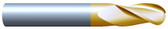 "#32502BTIN----3 Flute 1/4"" Dia. x 1 1/2"" LOC x  4"" OAL Ball"