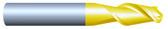 """#HP21251BQUA----2 Flute 1/8""""  Dia. x 1/2"""" LOC x  2"""" OAL Ballnose Aluminum Cutter"""