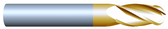 "#41874BTIN----4 Flute 3/16"" Dia. x 1"" LOC x  3"" OAL Ball"
