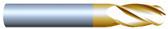 "#42504BTIN----4 Flute 1/4"" Dia. x 1"" LOC x  4"" OAL Ball"