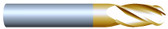 "#45005BTIN----4 Flute 1/2"" Dia. x 2"" LOC x  4"" OAL Ball"
