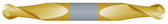 "#SBD2203BTIN----2 Flute 13/64"" Dia. x 1/2"" LOC x  2 1/2"" OAL Stub Ball D/E"
