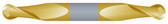 "#SBD2312BTIN----2 Flute 5/16"" Dia. x 1/2"" LOC x  2 1/2"" OAL Stub Ball D/E"
