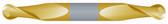 "#SBD2375BTIN----2 Flute 3/8"" Dia. x 9/16"" LOC x  2 1/2"" OAL Stub Ball D/E"