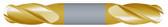 "#SBD4250BTIN----4 Flute 1/4"" Dia. x 1/2"" LOC x  2 1/2"" OAL Stub Ball D/E"