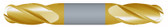 "#SBD4375BTIN----4 Flute 3/8"" Dia. x 9/16"" LOC x  2 1/2"" OAL Stub Ball D/E"