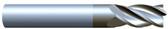 "#VR41252ALT----4 Flute 1/8"" Dia. x 1/2"" LOC x  2"" OAL  Variable Helix w Radius"