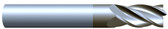 "#VR43752ALT----4 Flute 3/8"" Dia. x 1"" LOC x  2 1/2"" OAL  Variable Helix w Radius"