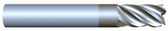 "#VR55003ALT----5 Flute 1/2"" Dia. x 2"" LOC x  4"" OAL  Variable Helix w Radius"