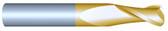 "#2250R015TIN----2 Flute 1/4"" Dia. x 3/4"" LOC x  2 1/2"" OAL w .015 Radius"