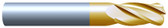 "#4312R015TIN----4 Flute 5/16"" Dia. x 7/8"" LOC x  2 1/2"" OAL w .015 Radius"