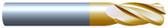 "#4500R125TIN----4 Flute 1/2"" Dia. x 1"" LOC x  3"" OAL w .125 Radius"