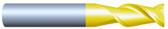 "#HP22501RQUA----2 Flute 1/4""  Dia. x 3/8"" LOC x  2"" OAL w .010""-.015"" Radius Aluminum Cutter"