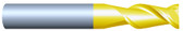"#HP23753RQUA----2 Flute 3/8""  Dia. x 2"" LOC x  4"" OAL w .010""-.015"" Radius Aluminum Cutter"