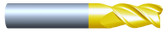 "#HP35001RQUA----3 Flute 1/2""  Dia. x 5/8"" LOC x  3"" OAL w .010""-.015"" Radius Aluminum Cutter"