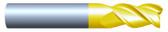 "#HP37504RQUA----3 Flute 3/4""  Dia. x 3 1/4"" LOC x  6"" OAL w .010""-.015"" Radius Aluminum Cutter"