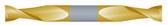 """#STD2125TIN----2 Flute 1/8"""" Dia. x 3/8"""" LOC x  2 1/2"""" OAL Standard D/E"""