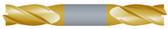 """#SBD4375TIN----4 Flute 3/8"""" Dia. x 9/16"""" LOC x  2 1/2"""" OAL Stub D/E"""