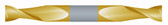 """#STD2218TIN----2 Flute 7/32"""" Dia. x 9/16"""" LOC x  3"""" OAL Standard D/E"""