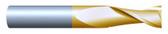 "#21872TIN----2 Flute 3/16""  Dia. x 5/8"" LOC x  2"" OAL"