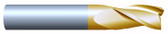 "#32501TIN----3 Flute 1/4"" Dia. x 3/4"" LOC x  2 1/2"" OAL"