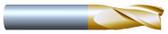 "#34371TIN----3 Flute 7/16"" Dia. x 1"" LOC x  2 3/4"" OAL"