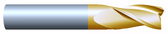 "#36251TIN----3 Flute 5/8"" Dia. x 1 1/2"" LOC x  3 1/2"" OAL"