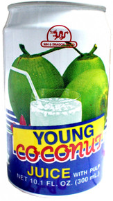 Sun & Dragon Brand Young Coconut Juice w/Pulp 10.5 floz - 24 Pack