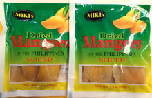 Miki's Sliced Dried Mangoes 3.5oz - 2 pack