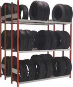 Double Deep Tire Rack with 3 Levels each Side