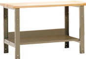 Workbench with Full Bottom Shelf