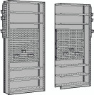 Closed Shelving with Louvered Panel for Bins, Starter & Adder