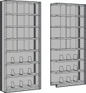 Closed Shelving with Fixed and Adjustable Dividers, Starter & Adder