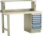 Workbench with Electronic Riser