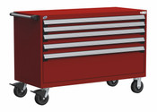 Mobile Drawer Cabinet Rousseau Heavy Duty R5BJE-3001 Flame Red