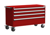 Mobile Drawer Cabinet Rousseau Heavy Duty R5BKG-3027 Flame Red