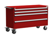 Mobile Drawer Cabinet Rousseau Heavy Duty R5BKE-3025 Flame Red